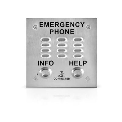 A.D.A. Compliant Emergency Speakerphone Built-in Auto Dialer and Digital Announcer