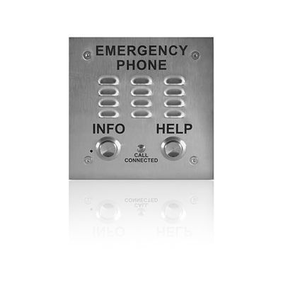 A.D.A. Compliant Emergency Speakerphone with Enhanced Weather Protection, Built-in Auto Dialer and Digital Announcer