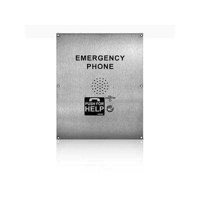 ADA Compliant VoIP Emergency Phone with Built-In Dialer and Digital Voice Announcer