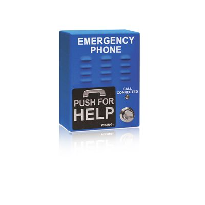 Viking E-1600-65-IPEWP ADA Compliant VoIP Emergency Phones with Built-In Dialer and Digital Voice Announcer