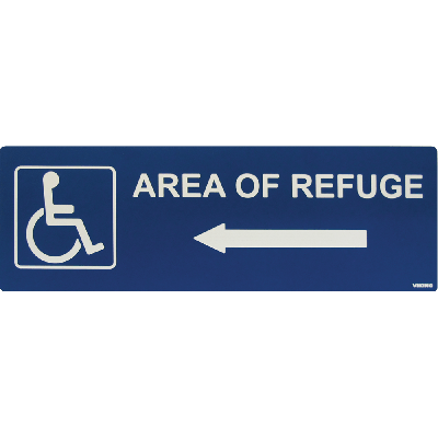 Viking ARS-DLB100 Area of Refuge Sign with Left Arrow