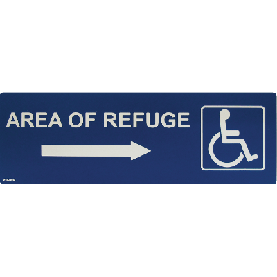 Viking ARS-DRB100 Area of Refuge Sign with Right Arrow