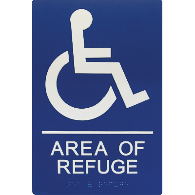 Viking ARS-TB100 Area of Refuge Sign, Tactile Braille and Raised Letters