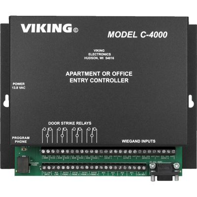 Viking C-4000 Apartment / Office Entry System Controller for Up To 4 Entrance Locations