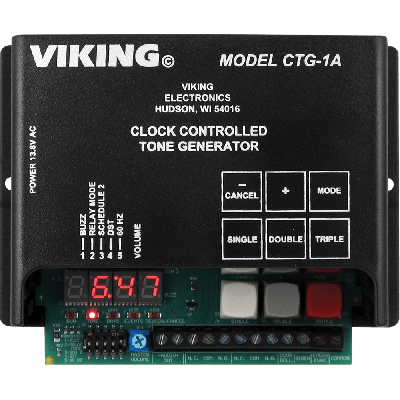 Viking CTG-1A Clock Controlled Tone Generator with Time Controlled Alert Tones and Emergency Tones
