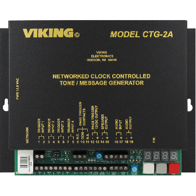 Viking CTG-2A Networked Clock Controlled Tone / Message Generator and Master Clock