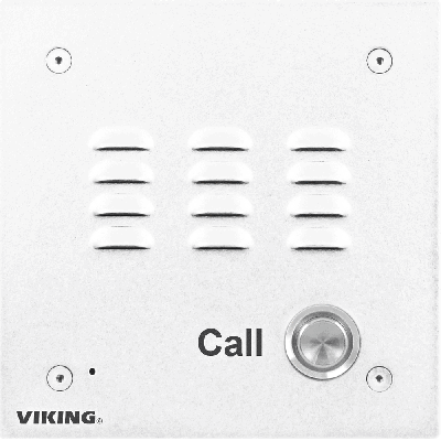 Viking E-10-WHA Entry Phone with White Aluminum Faceplate