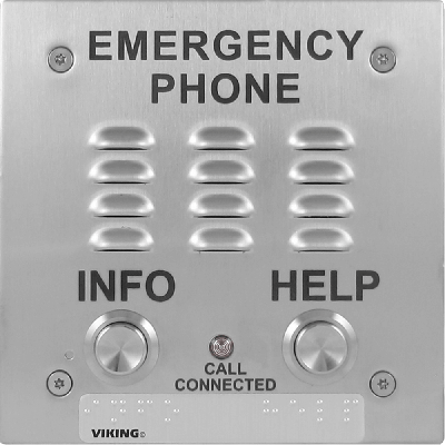 Viking E-1600-20-IP ADA Compliant VoIP Emergency Phones with Built-In Dialer and Digital Voice Announcer