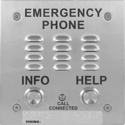 Viking E-1600-20A-EWP A.D.A. Compliant Emergency Speakerphone with Enhanced Weather Protection, Built-in Auto Dialer and Digital Announcer