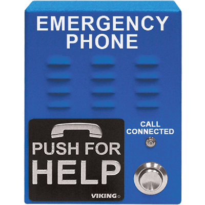 Viking E-1600-65A-EWP Handsfree Emergency Phone with Dialer/Announcer, Blue