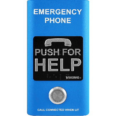 Viking  E-1600-BLA ADA Compliant Blue Emergency Phone with Built-In Dialer and Voice Announcer
