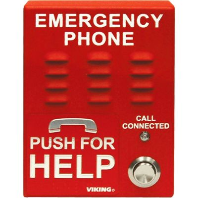 Viking E-1600A-EWP ADA Compliant Red Emergency Phone with Enhanced Weather Protection (EWP)
