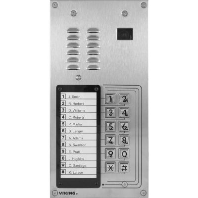 Viking K-1205-IP-EWP VoIP Entry Phone System with 12 Button Auto Dialer and Camera