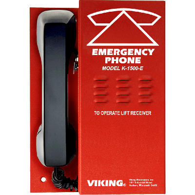 Viking K-1500-E Emergency Elevator Phone with Handset No Auto Dialing