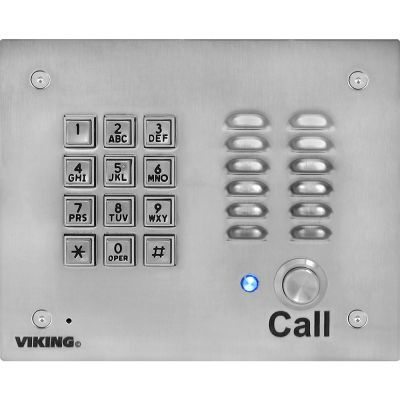 Viking K-1700-3-EWP Vandal Resistant Handsfree Entry Phone with Keypad Enhanced Weather Protection