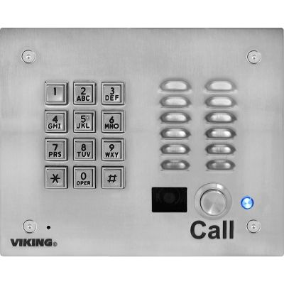 Viking K-1705-3 Vandal Resistant Video Entry Phone with Keypad