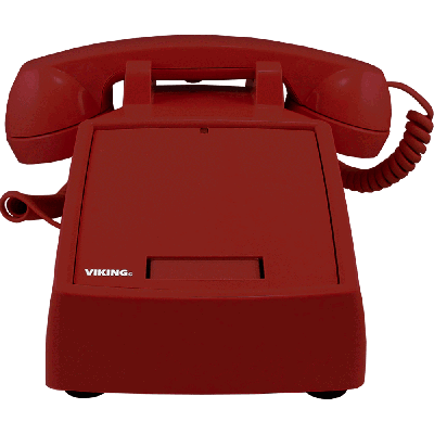 Viking K-1900D-IP VoIP Desk Phone with Auto Dialer, Red