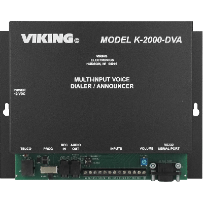 Viking K-2000-DVA Mass Notification System Voice Alarm Dialing or Store Caster Announcements from up to Eight Inputs