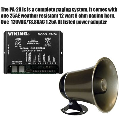 Viking PA-2A Multi-Line Loud Ringer/ Paging Amplifier