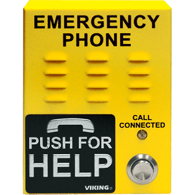 Viking E-1600-45A A.D.A.Yellow Emergency/Elevator Phone