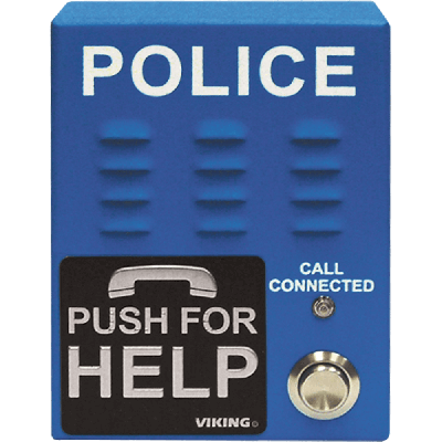 Viking E-1600-60A-EWP ADA Compliant, Blue, Handsfree Emergency Police Phone with Dialer and Announcer