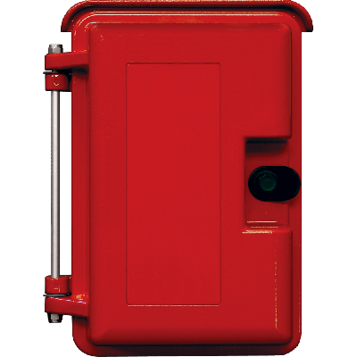 Viking VE-9X12R-0 9x12 Red Weather-Proof Enclosure with Optional Telephone Label and No Adapter Panel