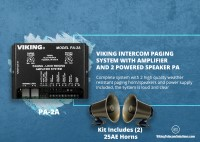See what is in Viking PA-30 30 Watt Paging Amplifier with Loud Ringing and Background Music.