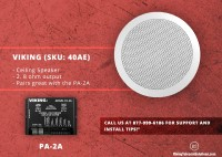 Viking 40AE 15 Watt 8 Ohm Ceiling Speakers– A Perfect Addition for Your Place!