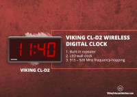 Viking CL-D2 CL Series Wireless Digital Clock- Discussing the Working and features of Viking LED clock